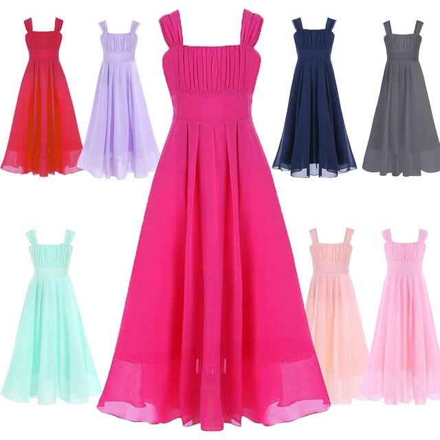 Online-Shop Elegante Mädchen Kleid Für Hochzeiten Lange Tüll Abend ...