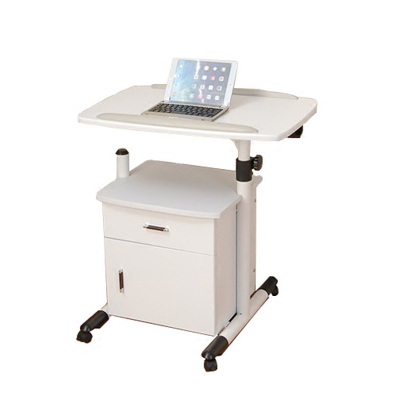 F#8209 Yi Amoy notebook comter desk with cabinet movable lifting bedside to table book FREE SHIPPING bsdt and one hundred million to reach the notebook comter office desktop home simple mobile learning desk free shipping