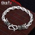 Beier 925 plata esterlina pulsera de cadena de eslabones domineering dragón hombre pulsera de cadena de mano de alta calidad sctyl0027