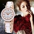 2016 SBAO Nuevas Señoras de Imitación Reloj de Cerámica de Lujo Relojes de Pulsera de Oro Con Correa De Aleación Fina Mujeres Vestido Reloj Mujer