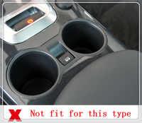 Pour Peugeot 3008 2009-2015 ABS Chrome voiture support de verre d'eau décoration couverture garniture autocollant pour conduite à gauche
