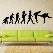 Art Decor Design Evolution the monkey decals man robot darth vader wall stickers star wars home decoration decal