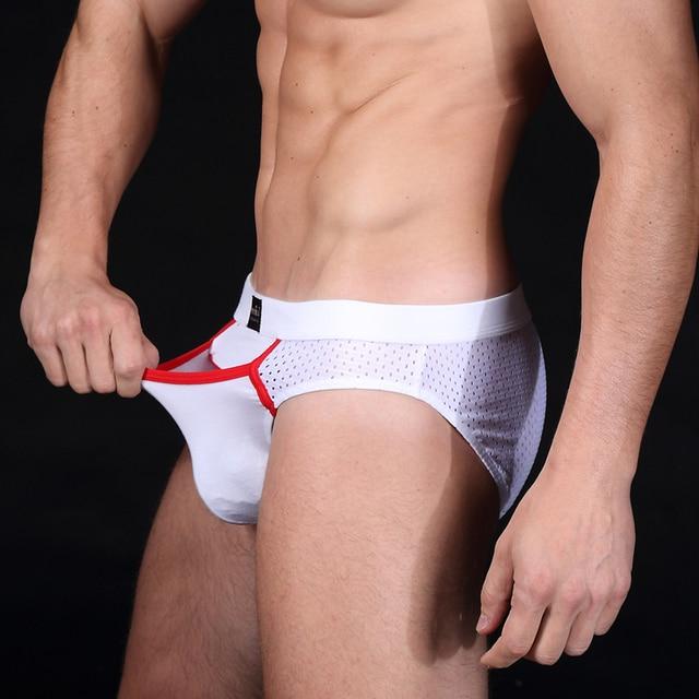 3pcs Manview Brand Men Underwear Cut Out Crotch Pants