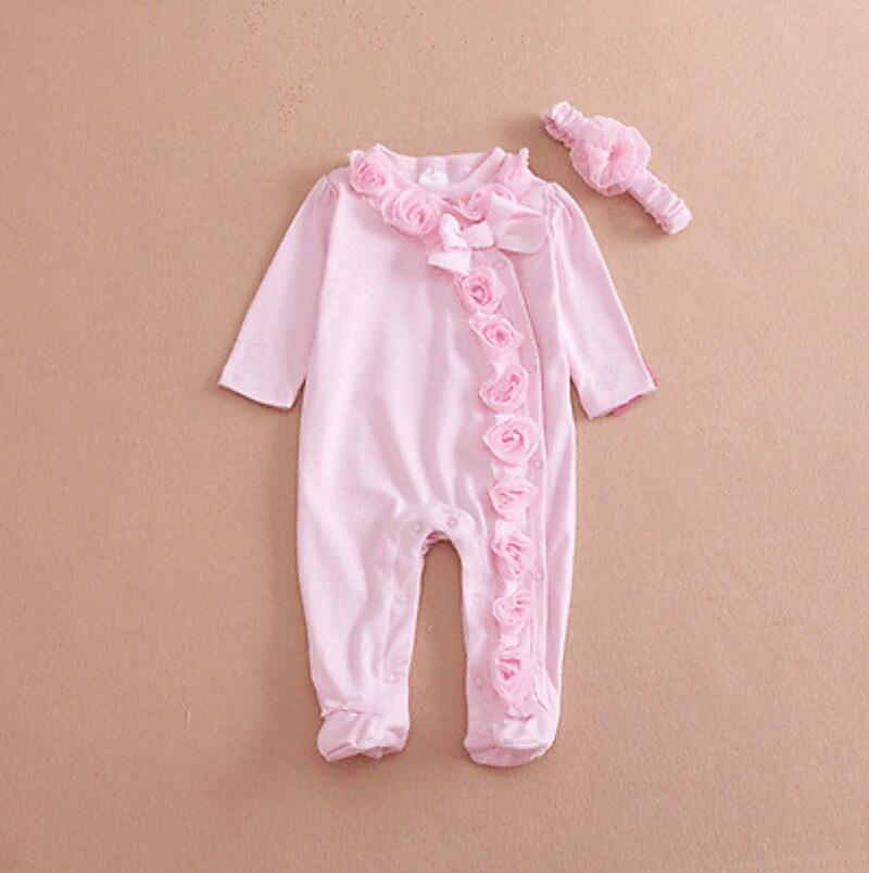 2016 г. Весна розовые цветочные Детские Обувь для девочек Ползунки для малышек детская одежда для новорожденных девочек одежда с длинным рука...