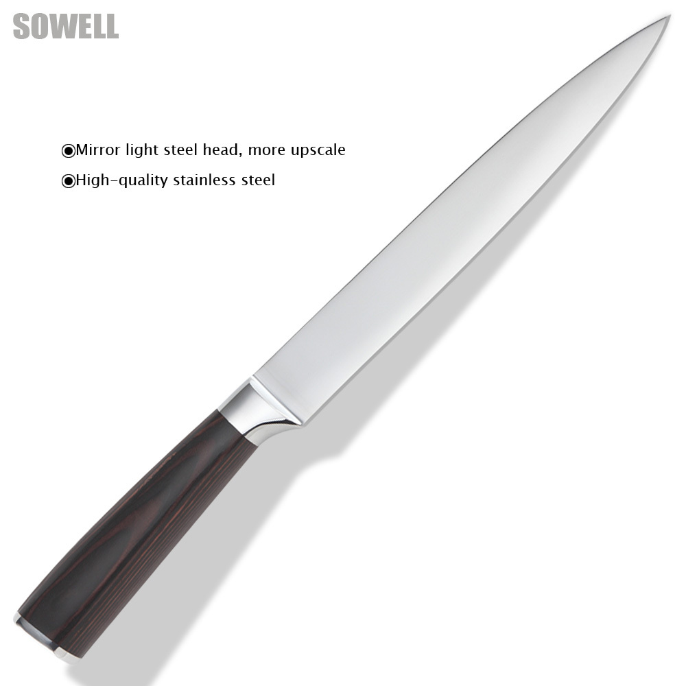 best steel for kitchen knives 8 inch slicing knife 7cr17 stainless steel blade kitchen 23153