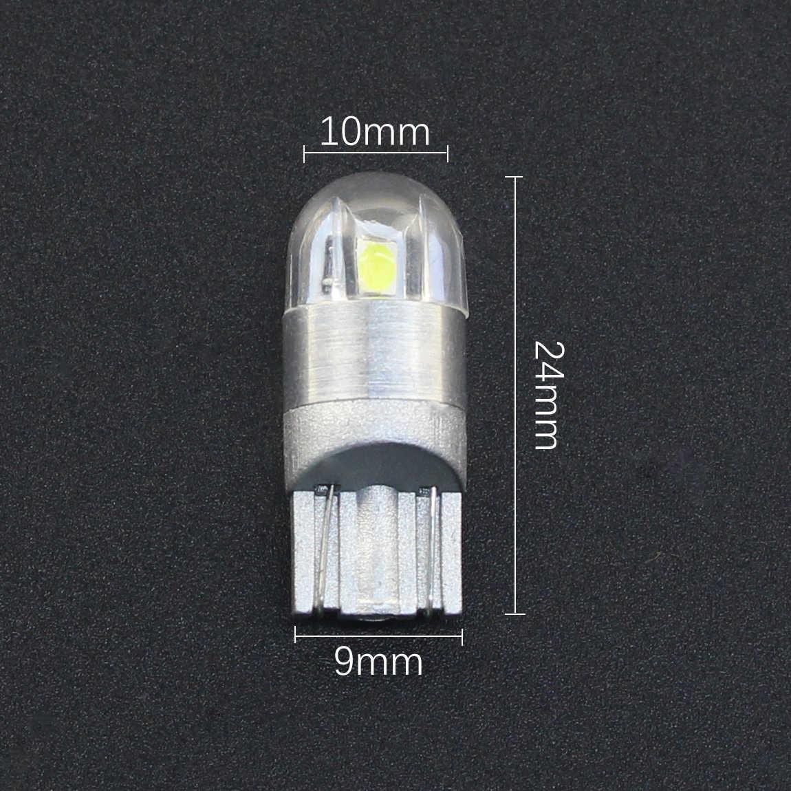DXZ 1 шт. T10 светодиодный w5w 194 168 12V canbus автомобильный интерьерный светильник 3030 2SMD парковочная лампа авто клинообразный зазор лампа для чтения светло-голубой желтый