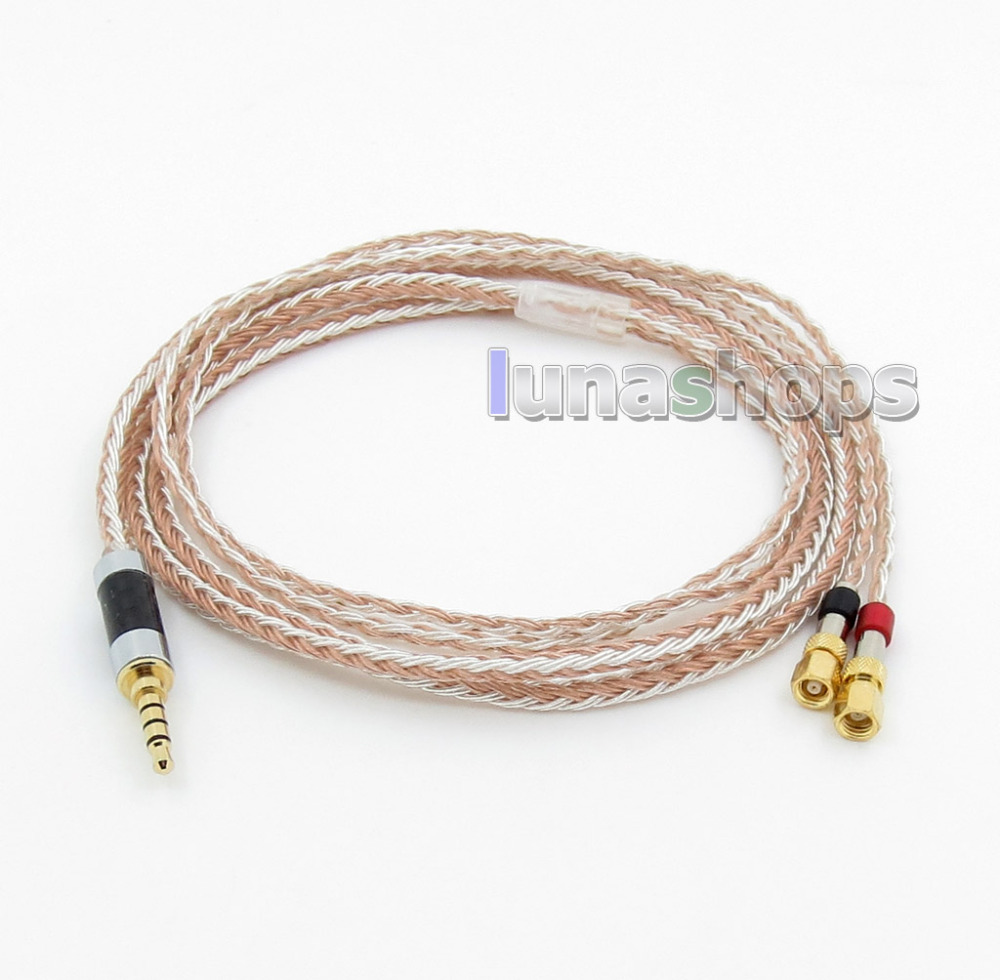 3.5mm 4 pôles TRRS Re-Zero équilibré 16 Core OCC argent mixte écouteur câble pour HiFiMan HE400 HE5 HE6 HE300 HE560 HE4 HE50 LN00579