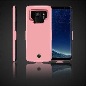 Image 3 - Funda de cargador de batería de 7000 mah para la cubierta de la energía del teléfono de la carga del TPU suave del Samsung galaxy S9 Plus para la carga del coche de Samsung