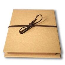 цена на 7 Inch Kraft Paper Album Craft Paste Fotografico Bebes Anniversary Gift Album Fotos Scrapbook Fotoalbum Fotos Memory Book 700