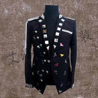 Мужские костюмы конструкции линзы Homme TERNO Сценические костюмы для певцов мужчины блесток Блейзер Танцы одежда куртка звезда стильное плать