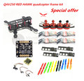 DIY FPV race mini drone QAV quadcopter frame kit pure carbon frame + RED HAWK DX2205 2300KV + RED HAWK BL12A ESC OPTO + CC3D