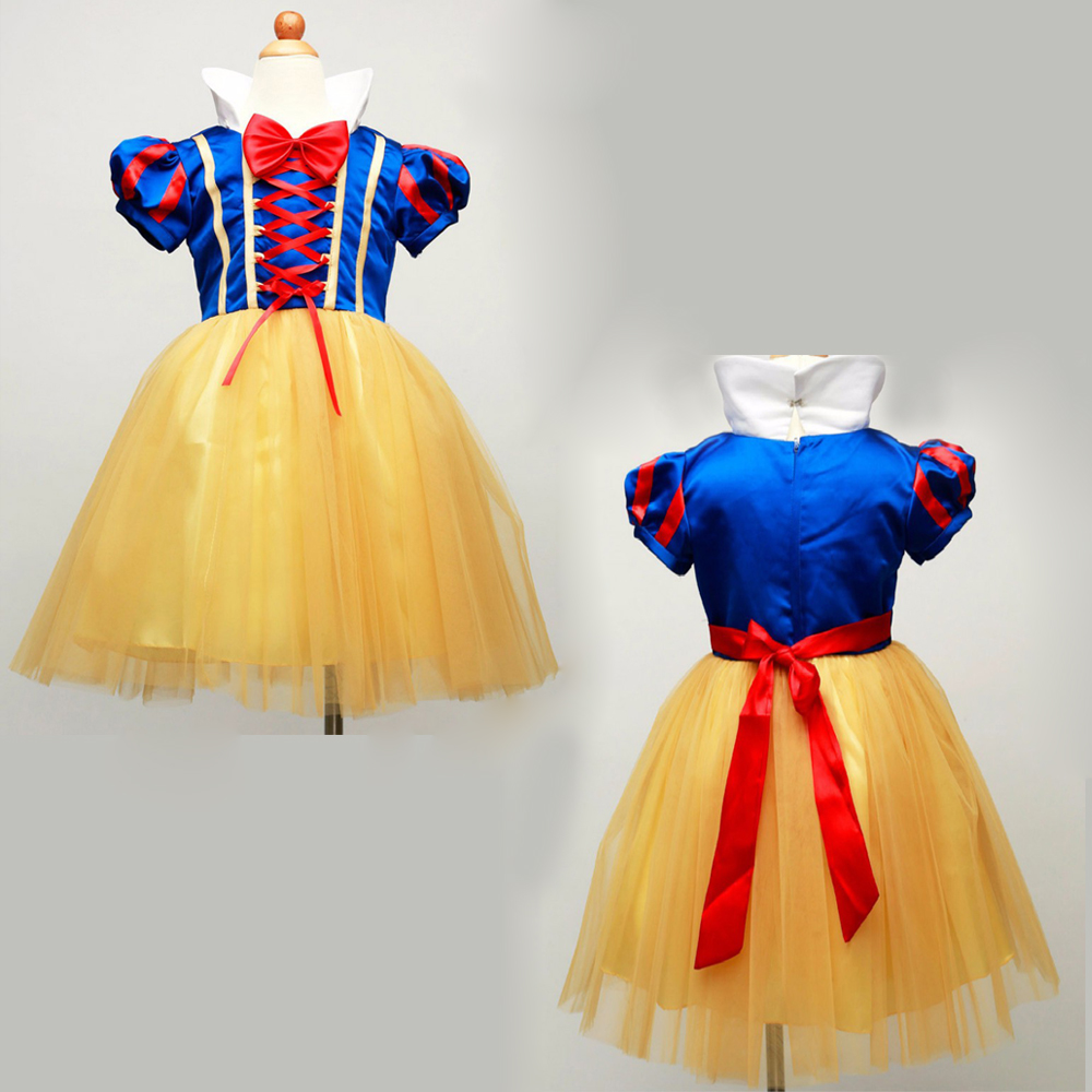 2017 fashion Snow White Princess Girls Dress Baby Girls Clothes Cosplay Masquerade Dress Fancy Costume Christmas Baby Girls new