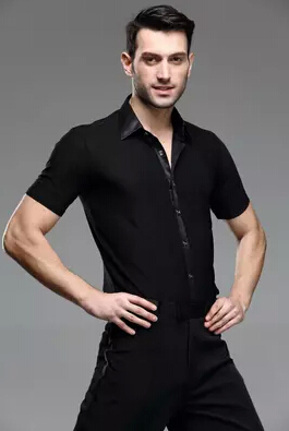 Picture of Man International Summer  Top Short-Sleeve  Samba Latin Dance Shirt Companionship Dance Male Shirt Square Dance Male Latin Dance