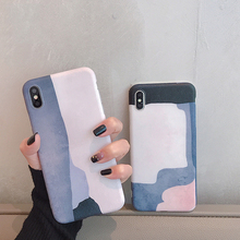 VZD literary minimalist color matching for iphone xs mobile phone case 7plus x/xs max/xr female iphone8p/i6s