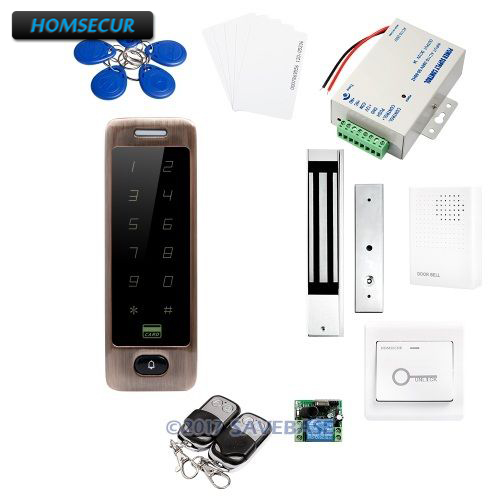 HOMSECUR Red Bronze RFID Access Control Kit +280KG Waterproof Mag Lock With Waterproof DesignHOMSECUR Red Bronze RFID Access Control Kit +280KG Waterproof Mag Lock With Waterproof Design