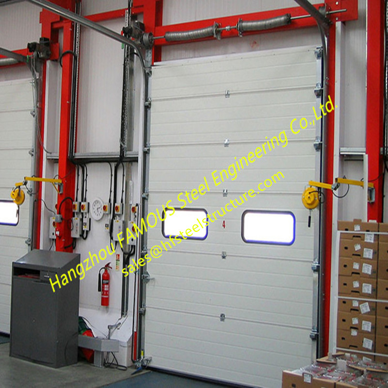 Motorized Garage Doors With Remote Control Quick Response Door For Fire Emergency Use