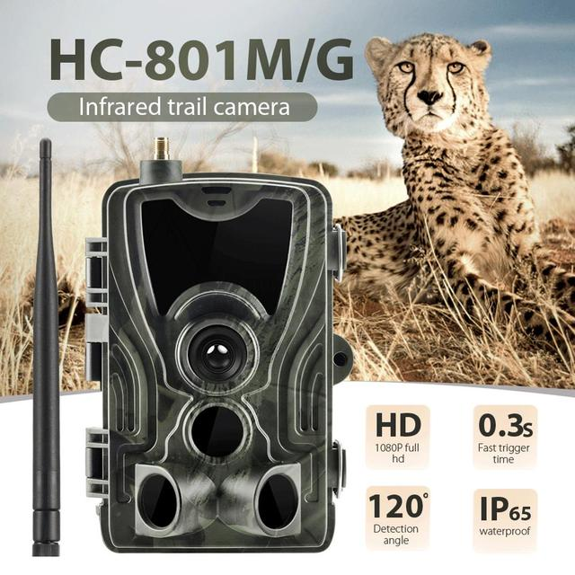 HC-801G Hunting Camera 16MP Trail Camera SMS/MMS/SMTP IP66 Photo Traps 0.3s Trigger Time 940nm LEDs Wild Cameras 2G 3G 801M 2