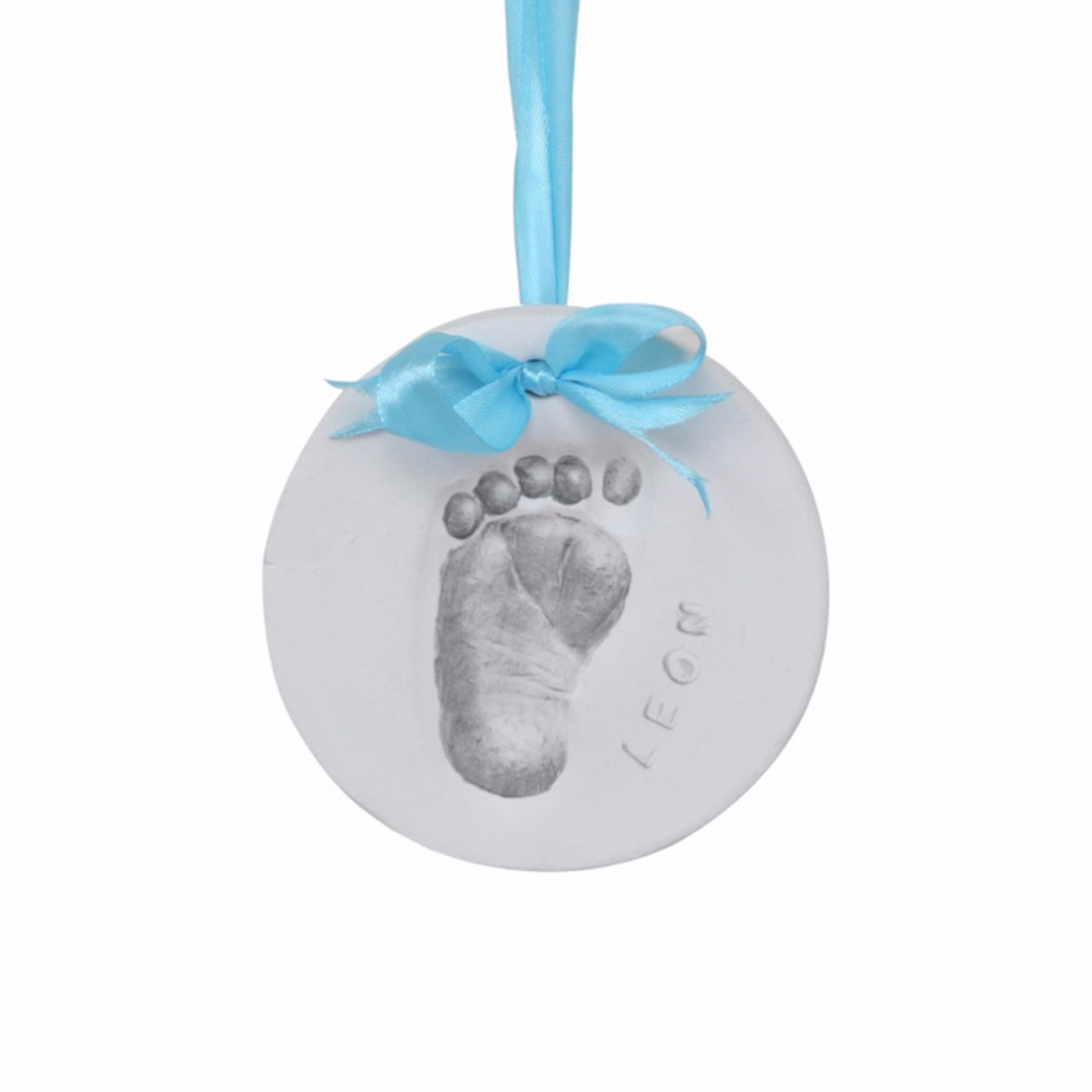 Baby Hand Foot Print Feet Mold Maker Solid Plaster Casting Kit Handprint Footprint Keepsake Baby Growth Souvenirs