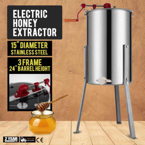VEVOR Brand New Large 3 Frame Stainless Steel Manual Honey  Extractor