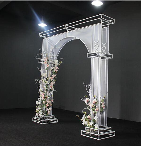 New Wedding Props Tieyi PVC Membrane Arch Wedding Door Happy Gate Stage Decoration Layout Background.