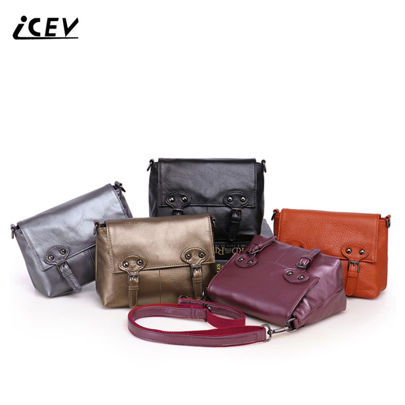 ICEV new vintage genuine leather bags handbags women famous brands cow leather women messenger bag high quality top handle bags new trend 2016 zooler women genuine leather messenger bags vintage crossbody bag bags handbags women famous brands high quality