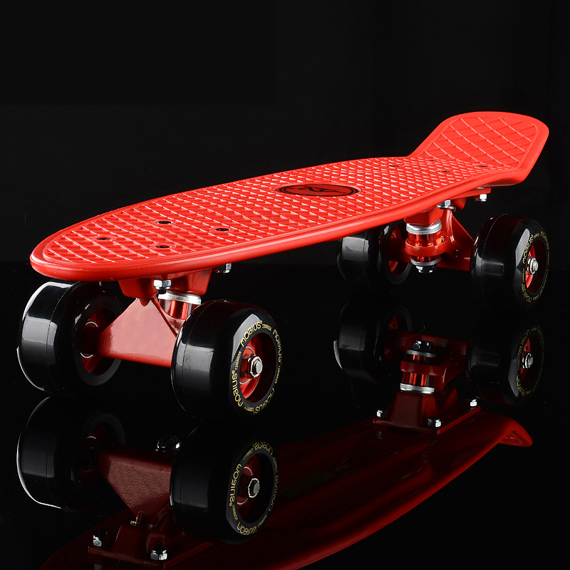 Ups/DHL 22 Inch Penny Board DIY Printing Retro Fish Skateboard With LED Light Kids ABEC-9 Single Rocker 72mm Wheel ...