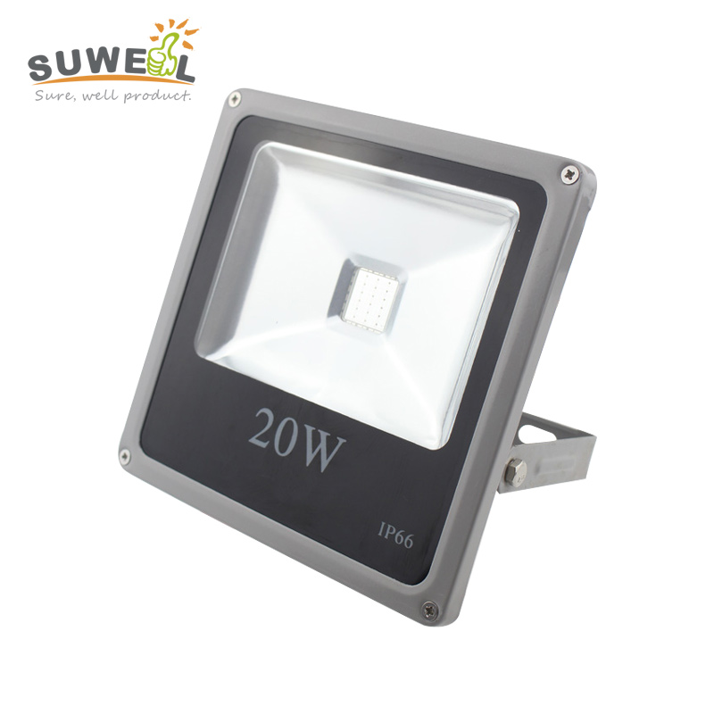 aluminum case 24v 20w rgb led floodlight waterproof colored outdoor flood lights external control