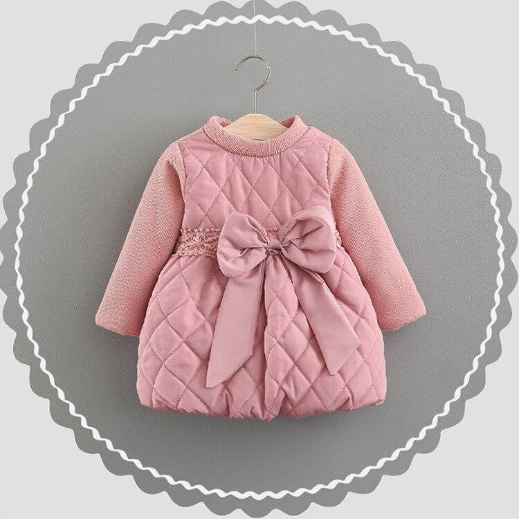 2017 new winter toddler baby dress girl Christmas dress dress princess dress for girls dressed velvet padded childrens dress