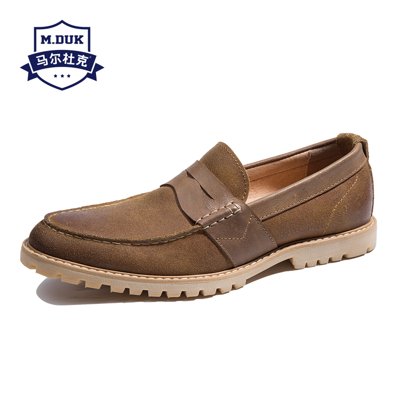 Spring summer 2018 British reto casual shoes genuine leather lazy men's loafer shoes Driving shoes men soft all-match cowhide osco spring summer business casual shoes wild lazy shoes british genuine leather breathable bean shoes men driving pedal loafer