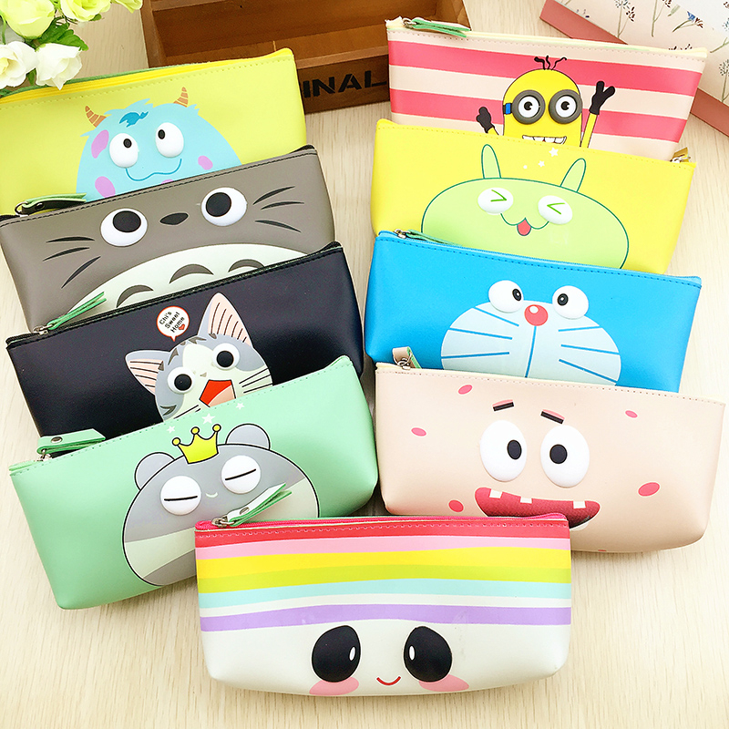 12f784d4f2 Cute Modern girl PU leather school pencil case for girl Kawaii Candy color  Lip Dot pen bag stationery pouch school office supply-in Pencil Cases from  Office ...
