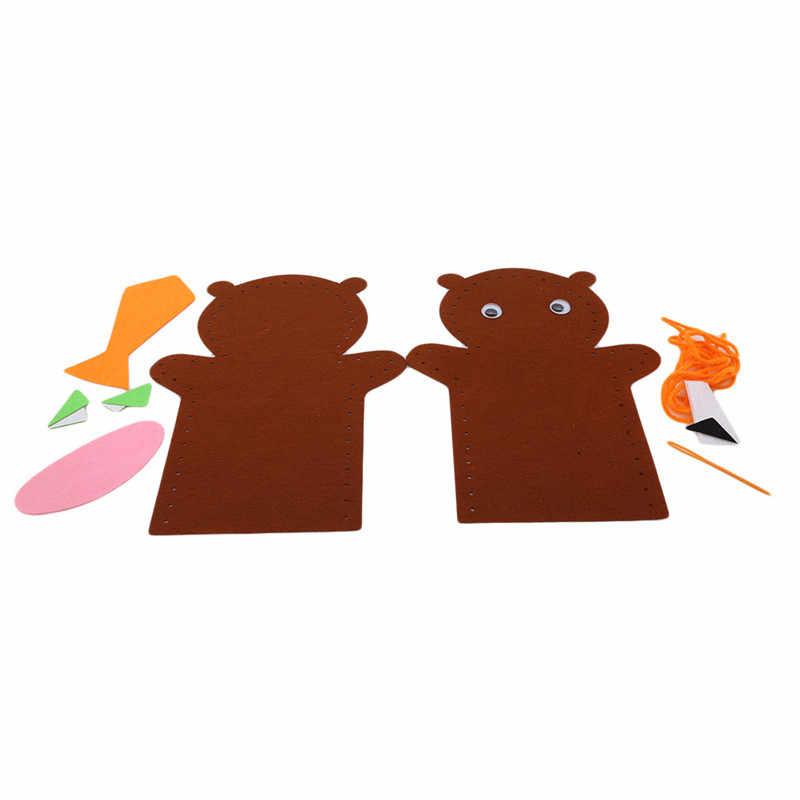 DIY dokunmamış kumaş karikatür çocuk oyuncakları kız çocuk bebek doğum günü hediyesi el işi el parmak kuklaları eğitim zanaat oyuncaklar