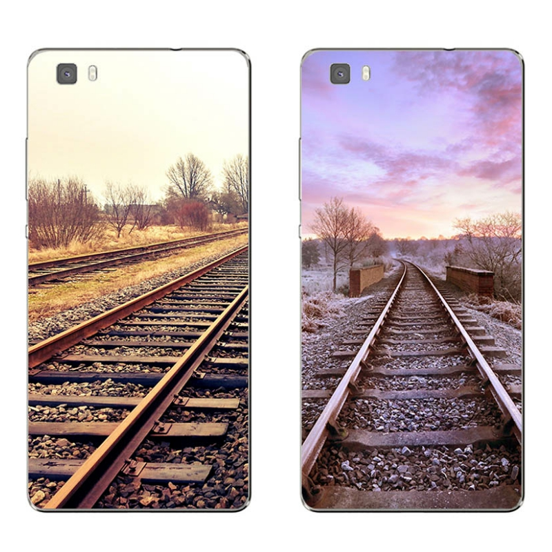 For Huawei Honor 5C 7 7I Phone Case P8 P9 Lite Plus G9 Cover Mate 7 8 Transparent Shell Soft Silicon Railway Pattern Skin