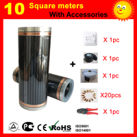 10 Square meter Infrared Heating film, AC220V floor heating film 50cm x 20m, room heater good to health