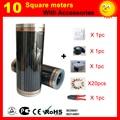 10 vierkante meter Infrarood Verwarming film, AC220V vloerverwarming film 50 cm x 20 m, kachel goed om gezondheid