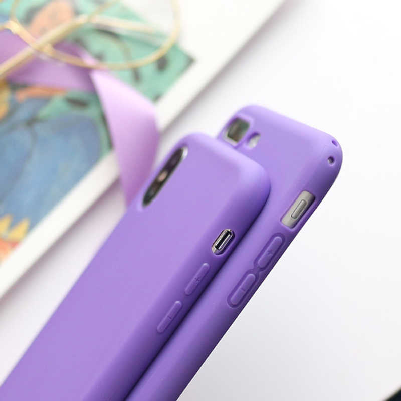 LACK Couples Soft TPU Candy Color Phone Case For iPhone X Fashion Lemon  Yellow Back Cover For iPhone XS Max XR 6 6S 7 8 Plus HOT
