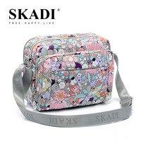 SKADI Summer Leisure Korean Version Of The New Woman 10 Pocket Oxford Nylon Cloth Ladies Satchel