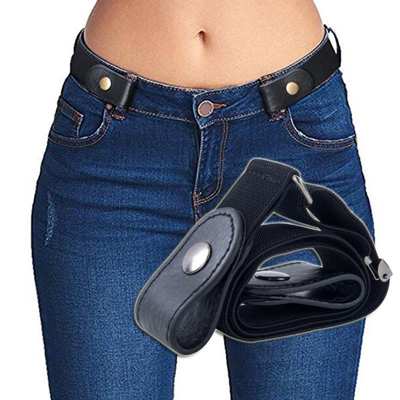New Jeans Ladies Punk Style Buckle-free Belt Dress Ladies Slim Sports Trend Comfortable Elastic New Buckle Belt