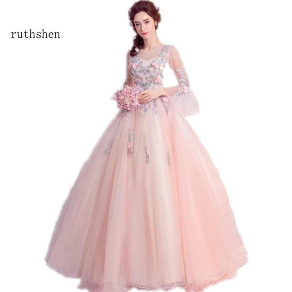 872f975b69471 Detail Feedback Questions about ruthshen Ball Gown Quinceanera Dresses With  Flowerd Appliques Beads Debutante Teens Sweet 16 Masquerade Prom Gowns on  ...