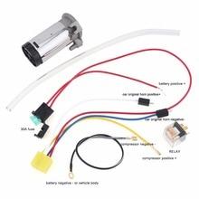 Прочный Универсальный 12V Воздушный компрессор+ воздушный шланг+ провода и реле для пневматический клаксон автомобиля/грузовика/транспортного средства