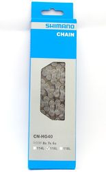 Original Shimano Bicycle CN-HG40 6/7/8 Speed HG Chain With Connecting Pin 116 Links Bike Parts