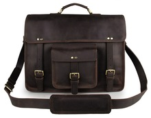 Guarantee Genuine Leather Vintage Design Briefcase Tote Travel Bag 7234R-1