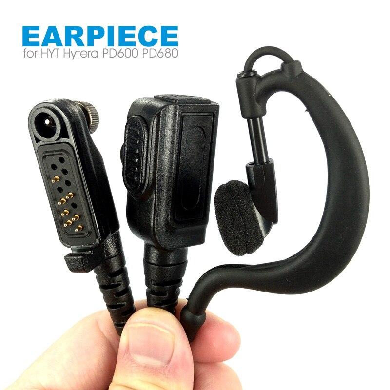 Walkie Talkie Earhook Mic Earpiece Headset For HYT Hytera PD600 PD602 PD605 PD662 PD665 PD680 PD682 PD685 X1p X1e Two Way Radio