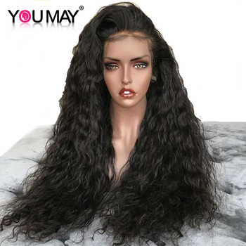 250 Density Water Wave Lace Front Human Hair Wigs For Women Glueless 13X6 Brazilian Lace Front Wigs Pre Plucked  You May Remy - DISCOUNT ITEM  40% OFF All Category
