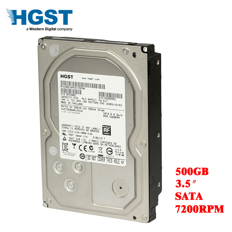 HGST 500GB desktop computer 3.5 internal mechanical hard drive SATA 3Gb-6Gb/s hard drive 16M 500 GB 7200 RPM  free shippingHGST 500GB desktop computer 3.5 internal mechanical hard drive SATA 3Gb-6Gb/s hard drive 16M 500 GB 7200 RPM  free shipping