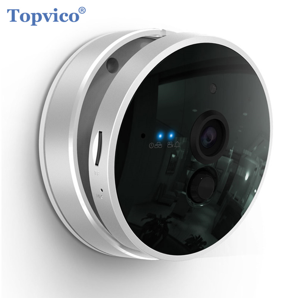 Topvico 1080P IP Camera WI-FI with Infrared Motion Sensor ONVIF CCTV WIFI Cam Wireless Video Surveillance Home Security Camera bw wifi camera ip doors sensor infrared motion sensor smoke detector alarm security camera wireless video surveillance bw14