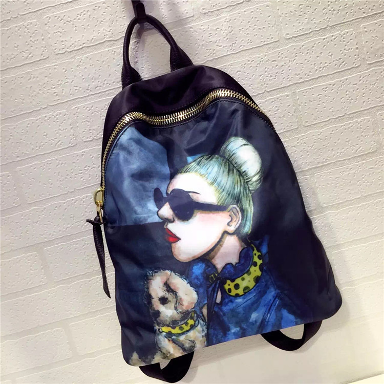 2017 New Fashion Women Printing Backpacks For Teenage Girls Casual Women Bags Baby Letter Backpacks Oxford
