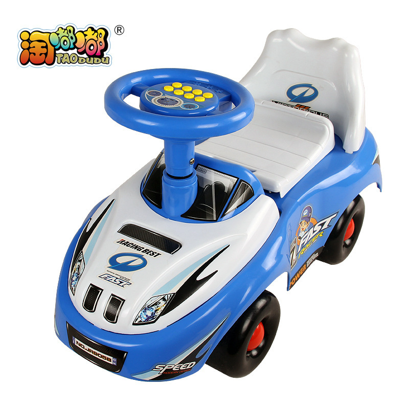 Free Shipping Four Wheel Car Baby Boys Walker Car Ride On Toys Kids