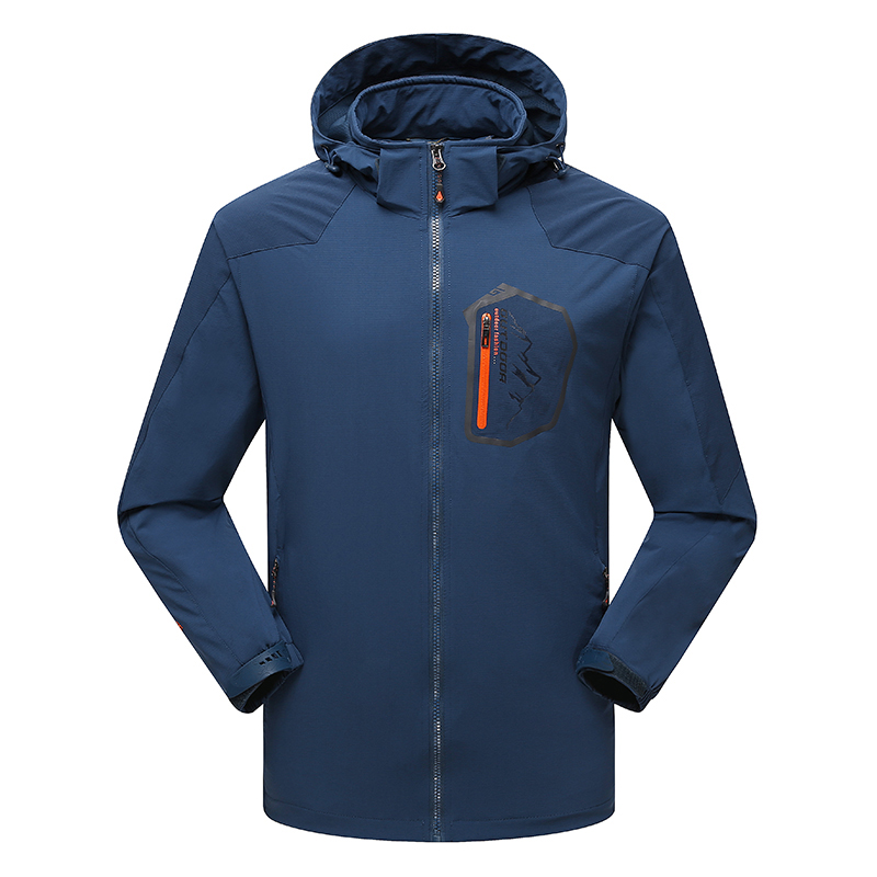 Spring Autumn Mens Hooded Windbreaker Climbing Camping Hiking Outdoor Jacket Men Water Resistant Breathable Coat Sport Outerwear brand new autumn winter men hiking pants windproof outdoor sport man camping climbing trousers big sizes m 4xl free shipping