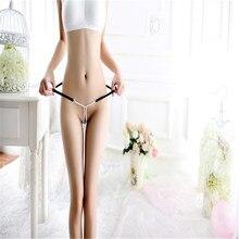 Купить с кэшбэком Lady Sexy Underwear Thong Panties Pearl Chain Erotic Resilience Multicolor Chain Body Jewelry For Women Couple Valentine's Day