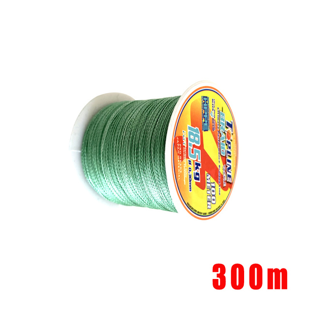 Topline Tackle Braided Fishing Line River  PE Line 4 Strands Fishing Cord 300M Fish Thread 0.15#-0.6# 3.9Kg-48.5KG Strength Test